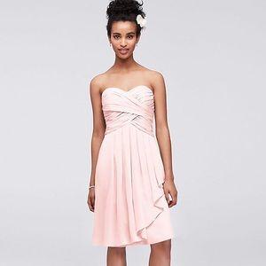 David's Bridal Sz 4 Pink Bridesmaid Dress w/ Tags